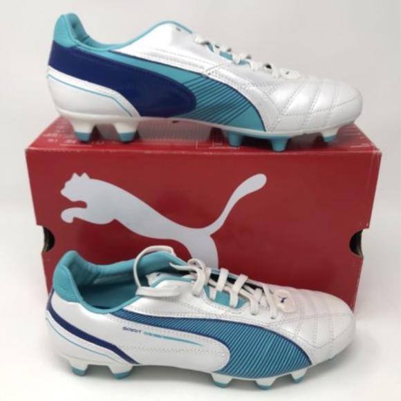 17eeb986d5a Puma 2009 Soccer Cleats Sprint FG Metallic Blue